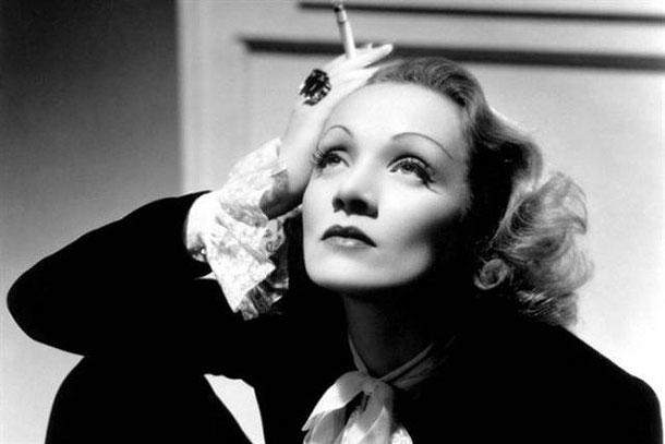 Fotografias a preto e branco de celebridades - Marlene Dietrich