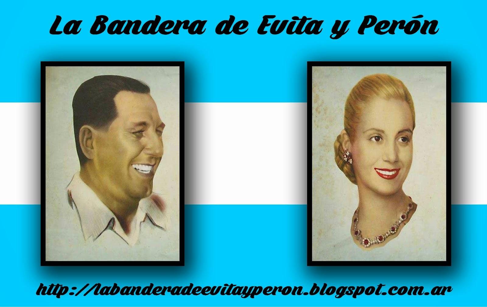 La Bandera de Evita y Perón