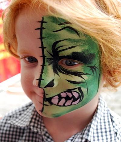 Si existe algo que divierte a los niños es pintarse lacara. Esta es