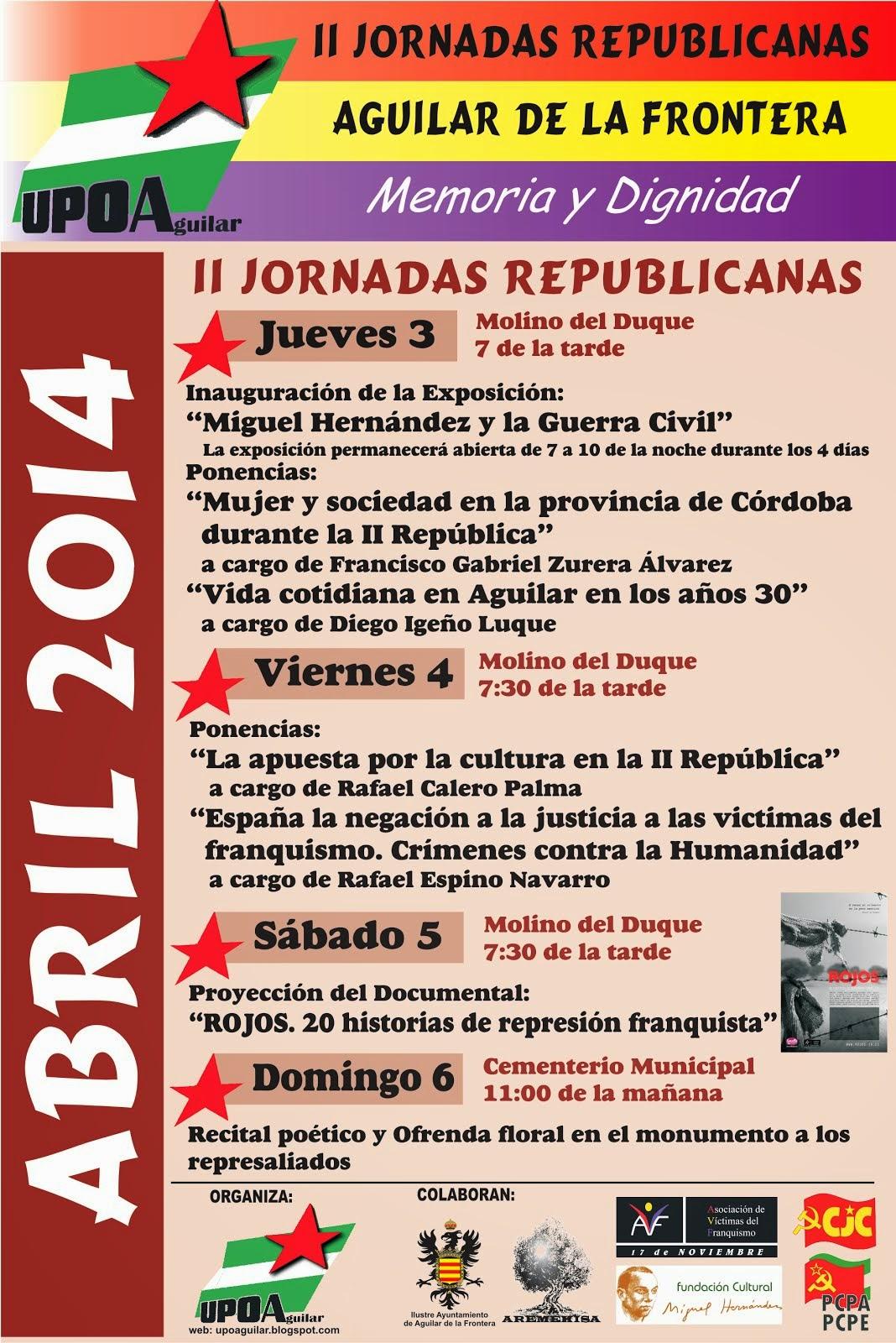 II Jornadas Republicanas Aguilar