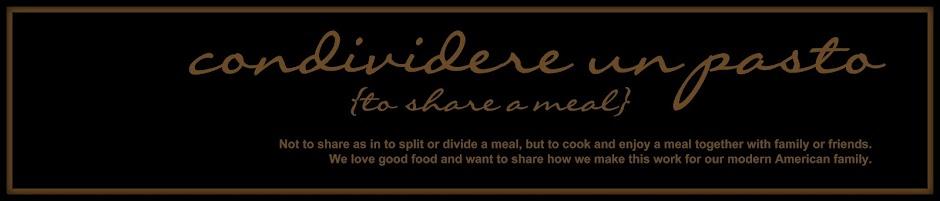 condividere un pasto