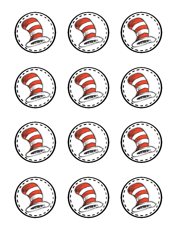 Impertinent image inside printable cat in the hat
