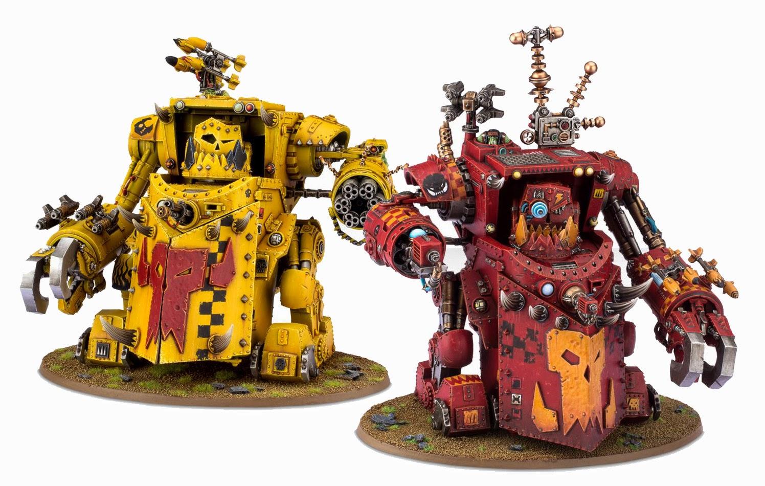 Warhammer 40K Morkanaut and Gorkanaut