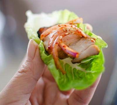 Grilled Pork Belly in Korean Style - Ba Chỉ Nướng Kiểu Hàn