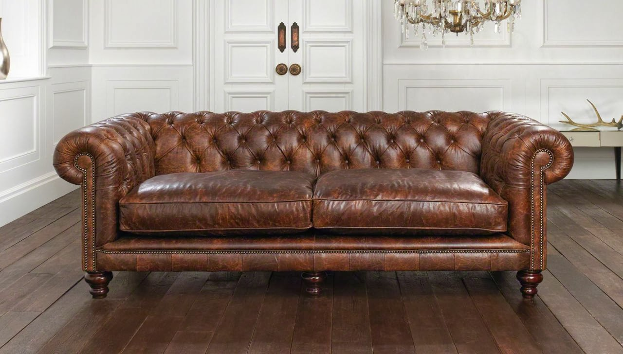 Living Room With Chesterfield Sofa My Chesterfield Obsession Finding Silver Pennies