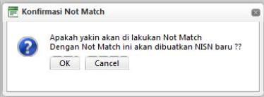 Fitur Not Mach NISN