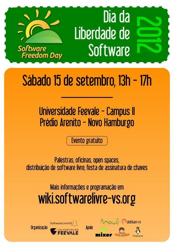 dia liberdade software 2012 software livre vs