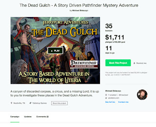 https://www.kickstarter.com/projects/michaelbielaczyc/the-dead-gulch-a-story-driven-pathfinder-mystery-a