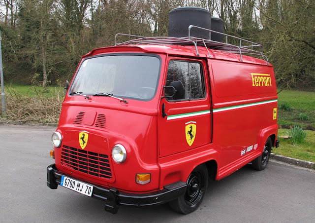 Ferrari van from rush