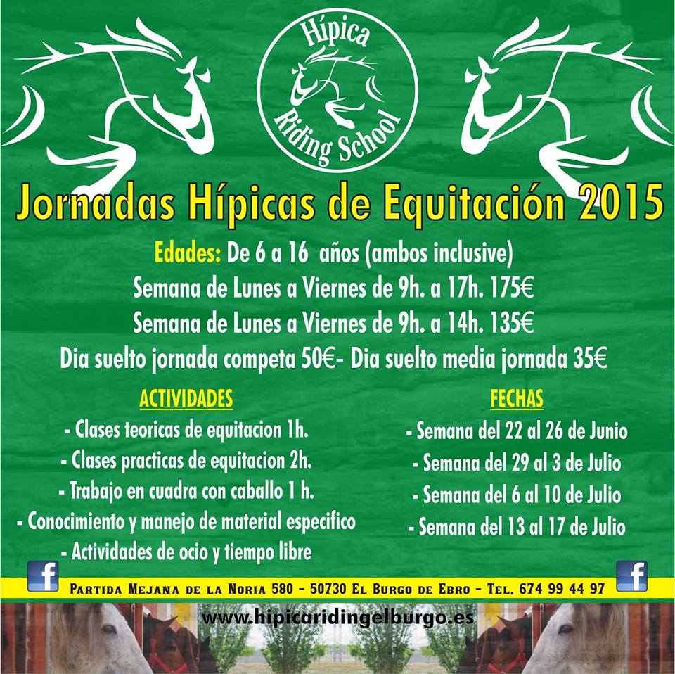 Equitacion zaragoza colonias h picas y campamentos verano for Piscina hipica zaragoza