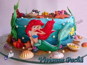 Bolo da Princesa Ariel