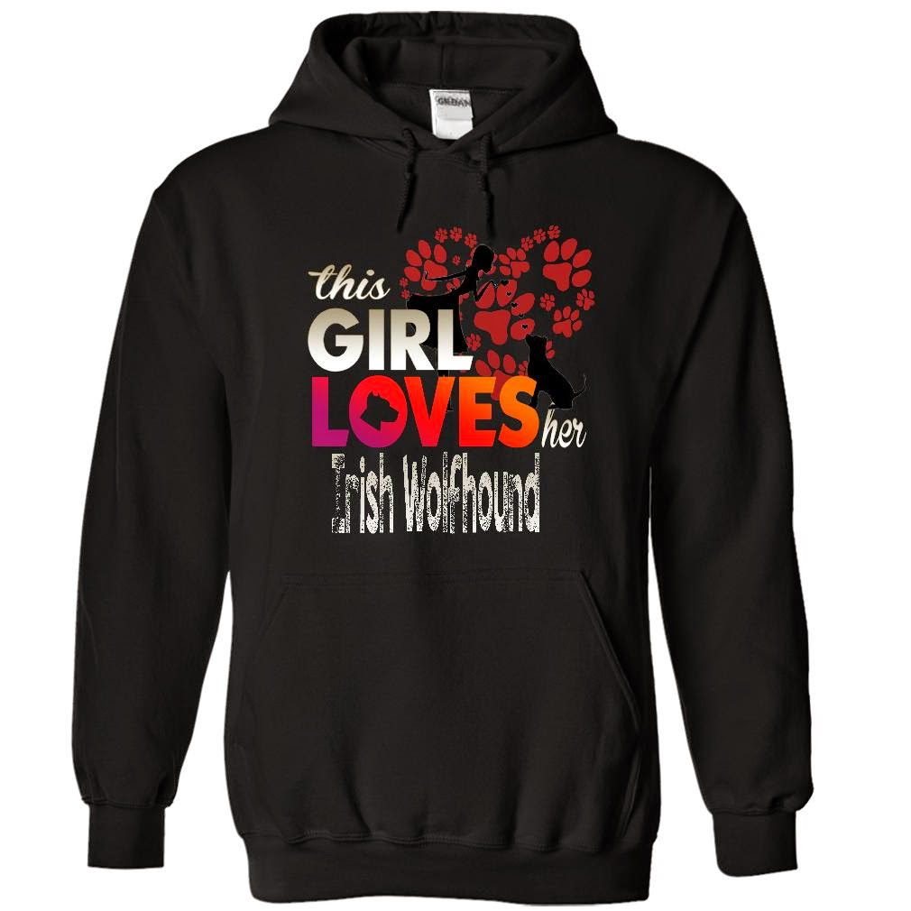 IRISH WOLFHOUND AWESOME HOODIEs