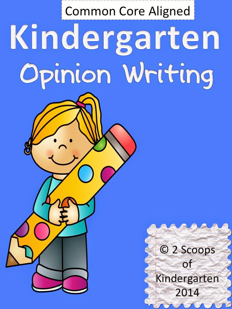 http://www.teacherspayteachers.com/Product/Kindergarten-Opinion-Writing-Common-Core-Aligned-1099493