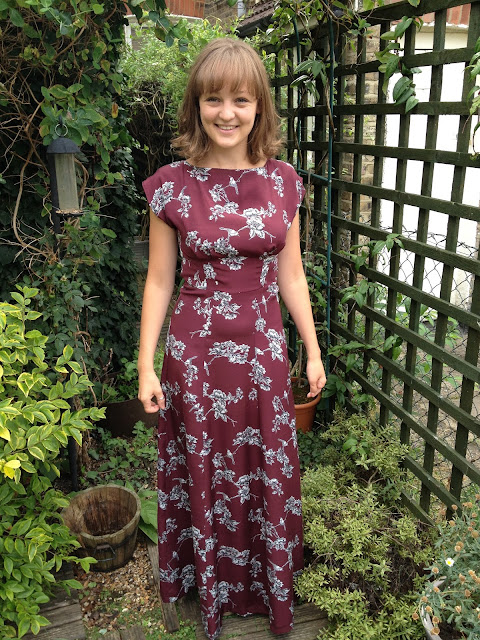 Diary of a Chainstitcher Autumnal Floral By Hand London Maxi Anna Dress Sewing Pattern