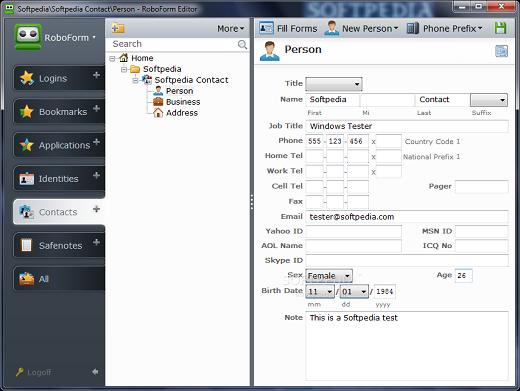 AI RoboForm Enterprise 7.9.7 запаўняльнік вэб-конфигурацияў