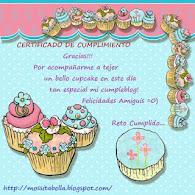 Mi certificado del Reto Cumpleblog