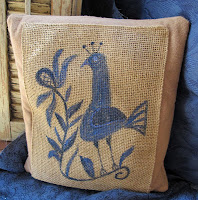Funky Blue Bird Pillow - $38.00 - SOLD