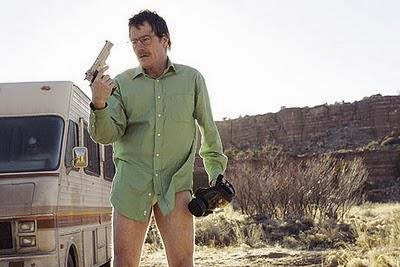 Bryan Cranston in the teaser of Breaking Bad's groundbreaking 2008 pilot, written by Vince Gilligan.