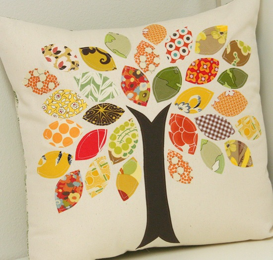 tree applique pillow tutorial