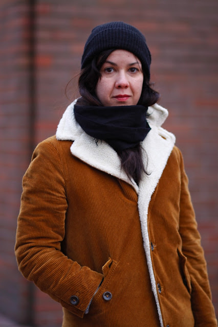 Julie Poole shearling coat seattle street style fashion it's My darlin'