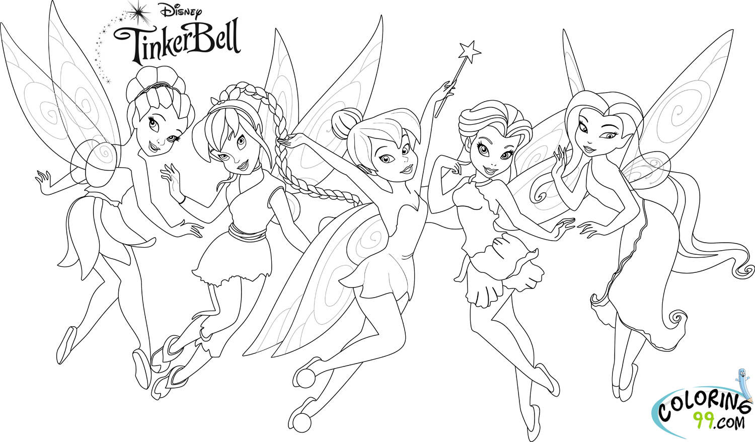 Tinkerbell and Friends Coloring