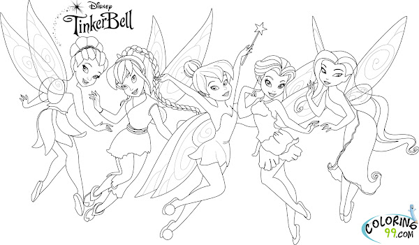 Tinkerbell Friends Coloring Pages