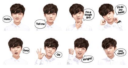 exo luhan line stickers