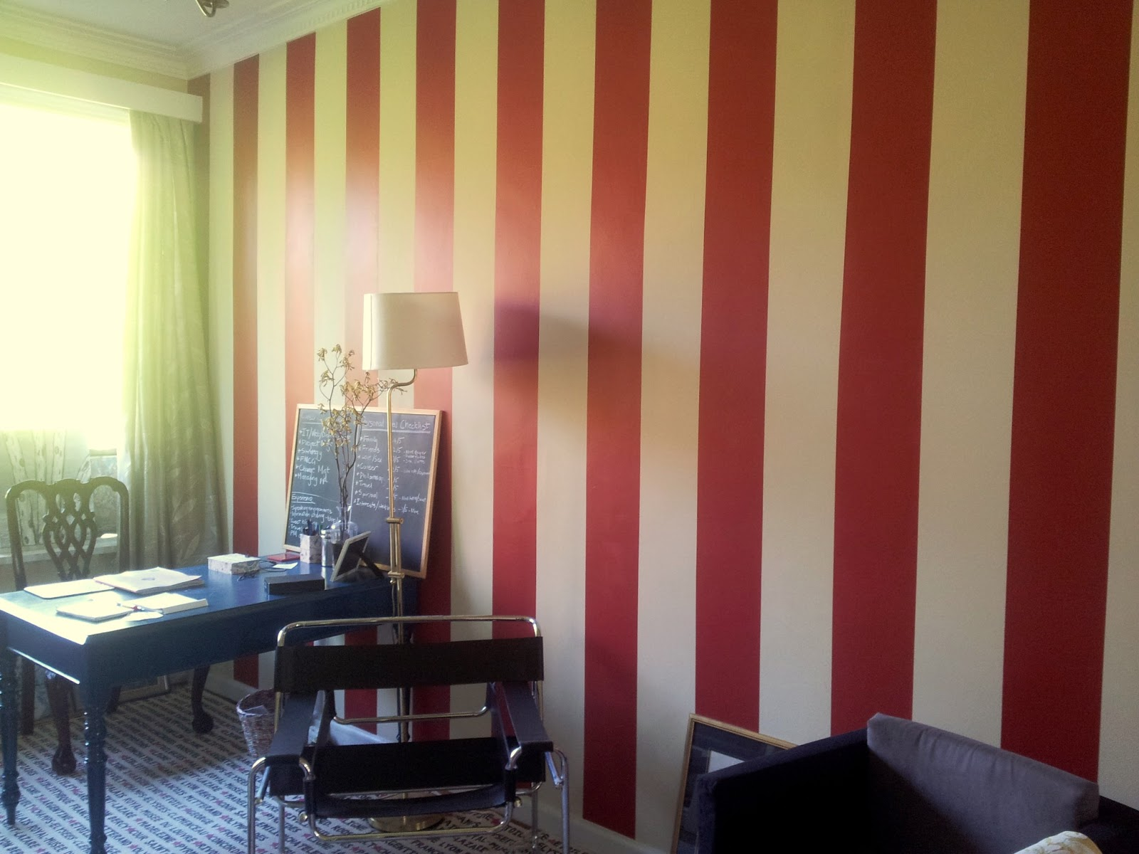 Red Feature Color Wall Easy Home Decorating Ideas