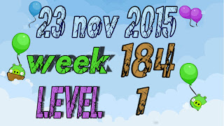 Angry Birds Friends Tournament level 1 Week 184