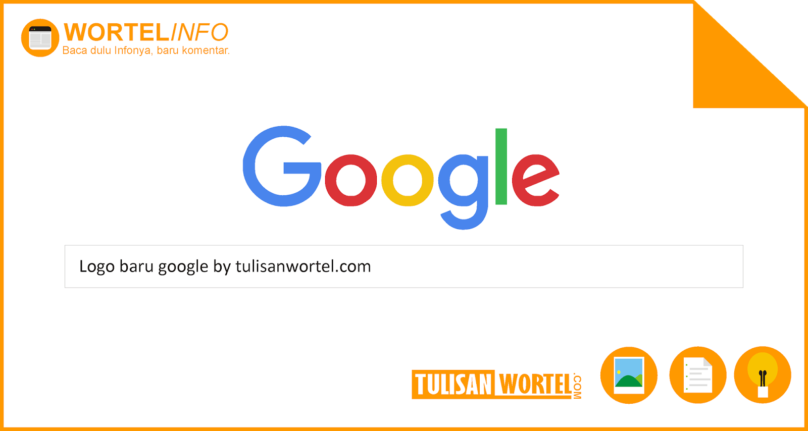 logo baru google tulisan wortel
