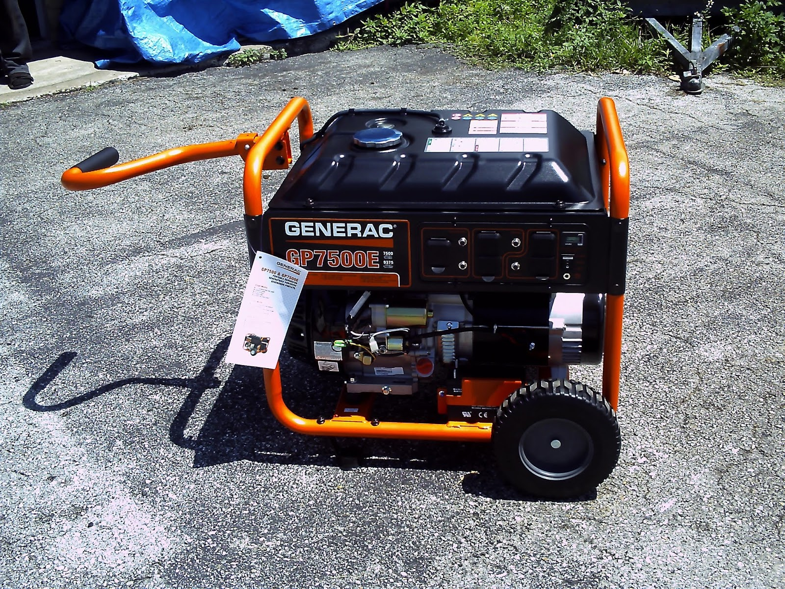 Terry s Small Engine Repair Generac GP7500E Portable Generator