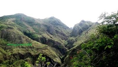panorama gunung kelud sebelum meletus