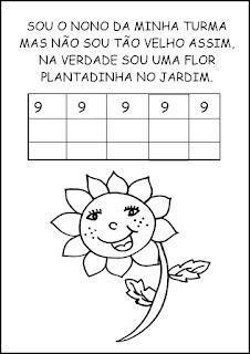 Atividades Numerais - Atividades com Números - Educação Infantil Nove