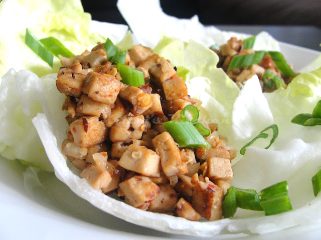Pad Thai Tofu Lettuce Wraps