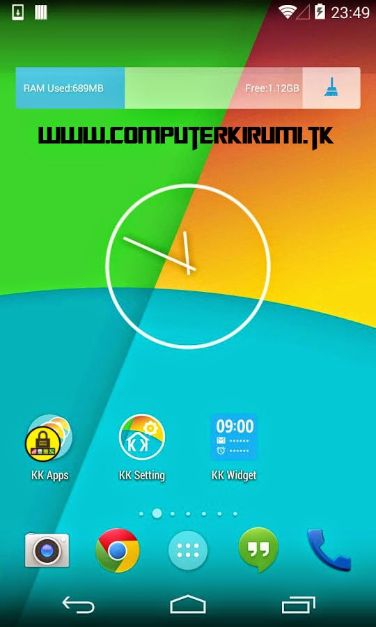 KITKAT LAUNCHER-Best ANDROID LAUNCHER WITH KITKAT THEME-Home screen