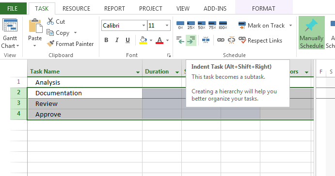 Sample MS Project Plan Template Free Download – Microsoft Project Sample