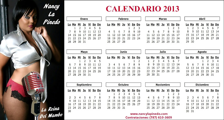 CALENDARIO DE NANCY LA PINEDO