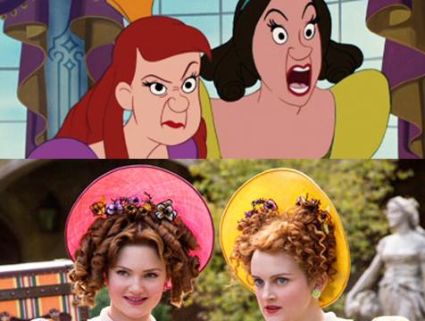 Comparación de las hermanastras de Cenicienta, Anastasia y Drisella, en las versiones cinematográficas de Disney de 1950 y 2015 - Cine de Escritor