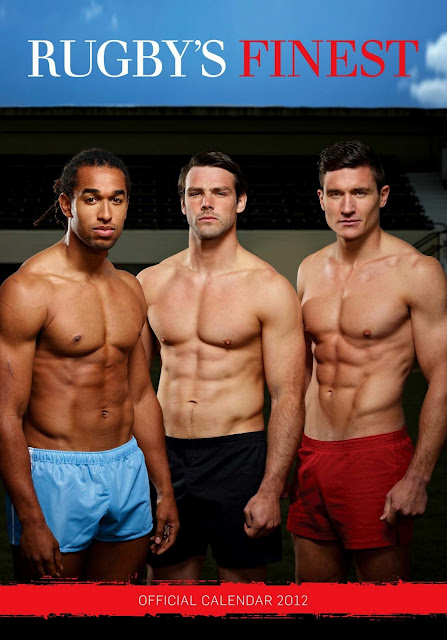 'Rugby's Finest' - 2012 • From left to right: Noah Cato, Ben Foden and Nils Mordt • Rugby Union Players