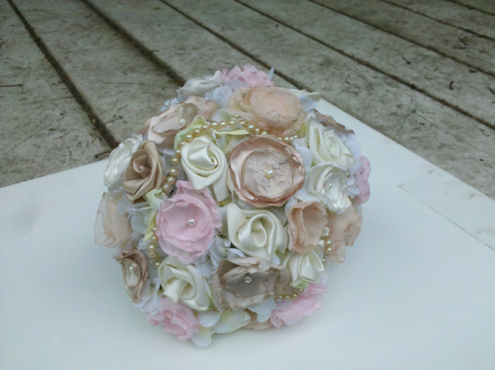 Have it all fabric flower bouquet set satin peonies satin ribbon if you would like a custom order or to check out more lovely fabric flower bouquets check out my etsy shop or email me at artforahomeyahoo izmirmasajfo