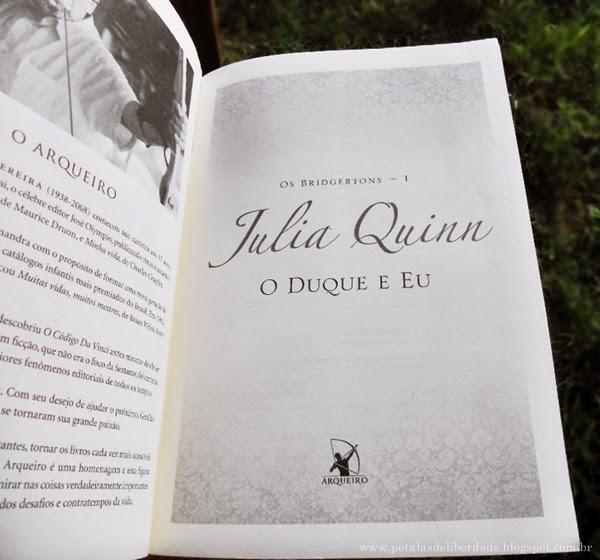 O Duque e Eu, Julia Quinn, romance de época, editora Arqueiro,