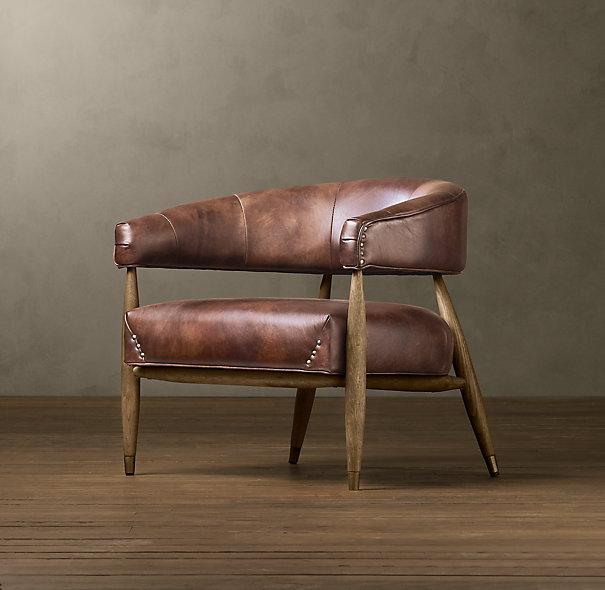 Bilson Leather Armchair At Pottery Barn 2. Hans Leather Armchair At Dwell  Studio 3. Jensen Leather Chair At Restoration Hardware