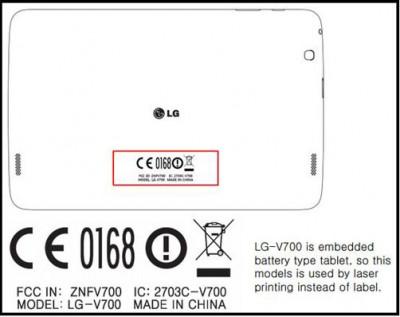 LG V700 dan V400 Suksesor LG G Pad?
