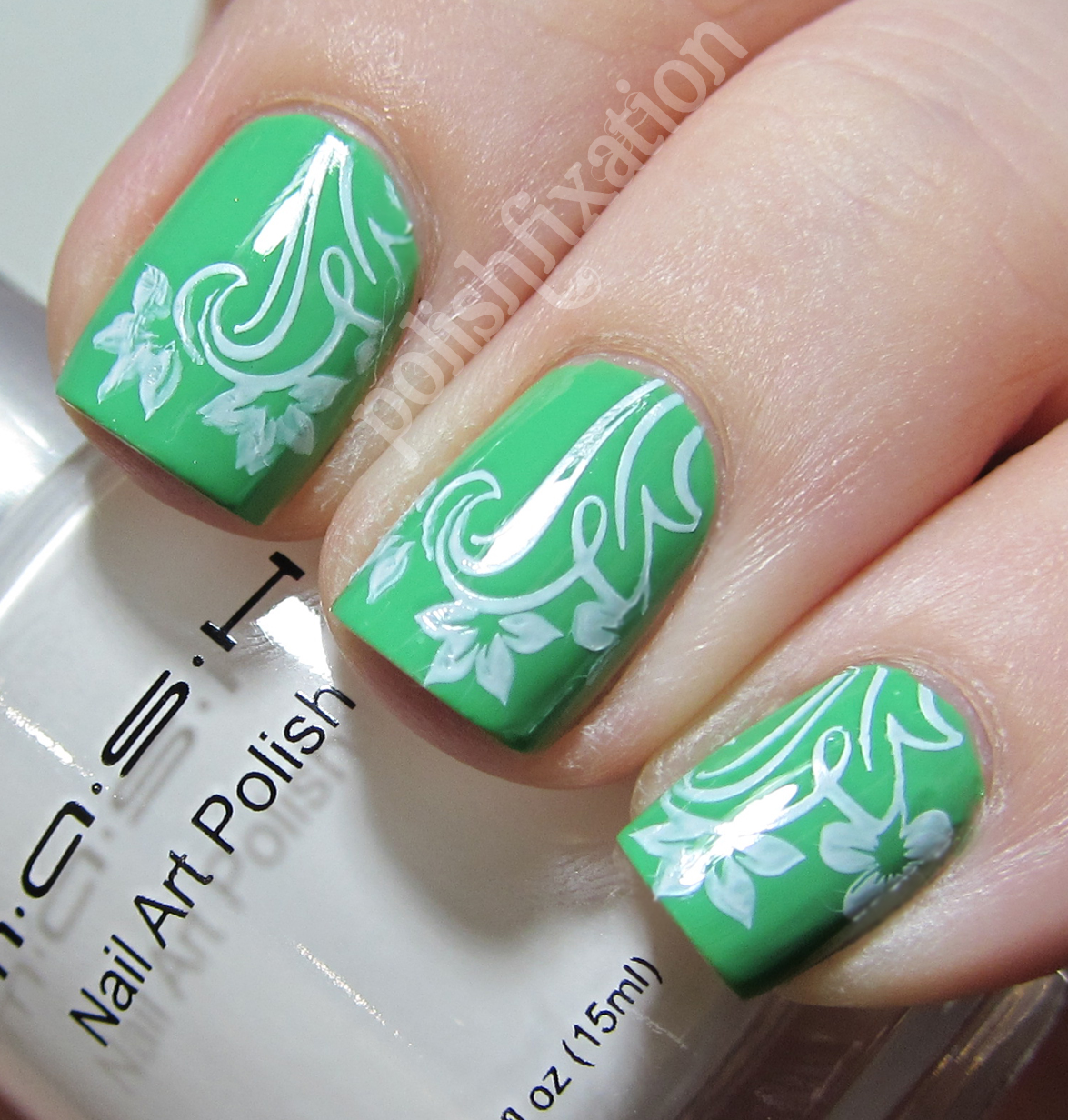 polish fixation: Mash Nails White Stamping Polish