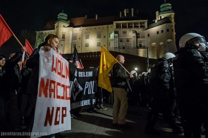11 listopada 2013, kraków, marsz nacjonalistów, NOP