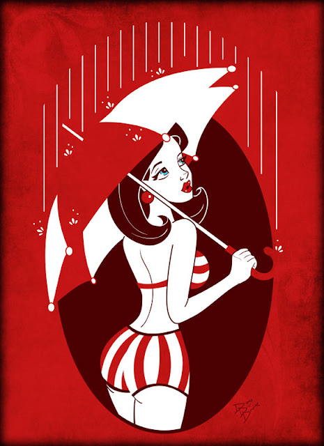 vector pin up girl