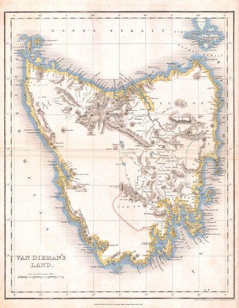 timeline of Tasmania's Bushrangers