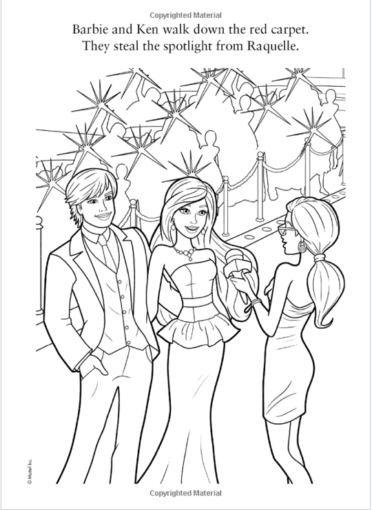 Its Actually Supposed To Be Ken In This Colouring Book And The Scenario Is A Movie Premiere Illustrator Just Seems Have Bieberized
