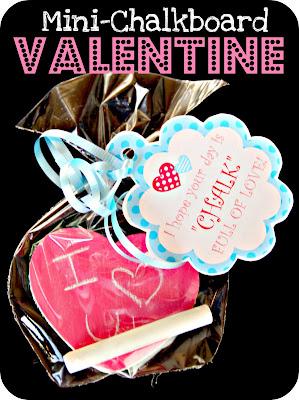 diy valentine, chalk valentine, chalkboard paint valentines day