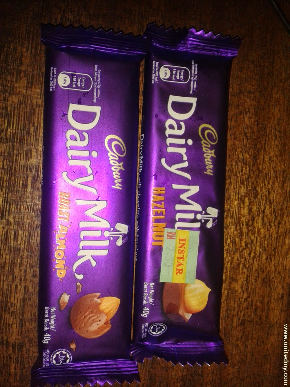 Cadbury Hazelnut and Cadbury Roasted almond malaysia